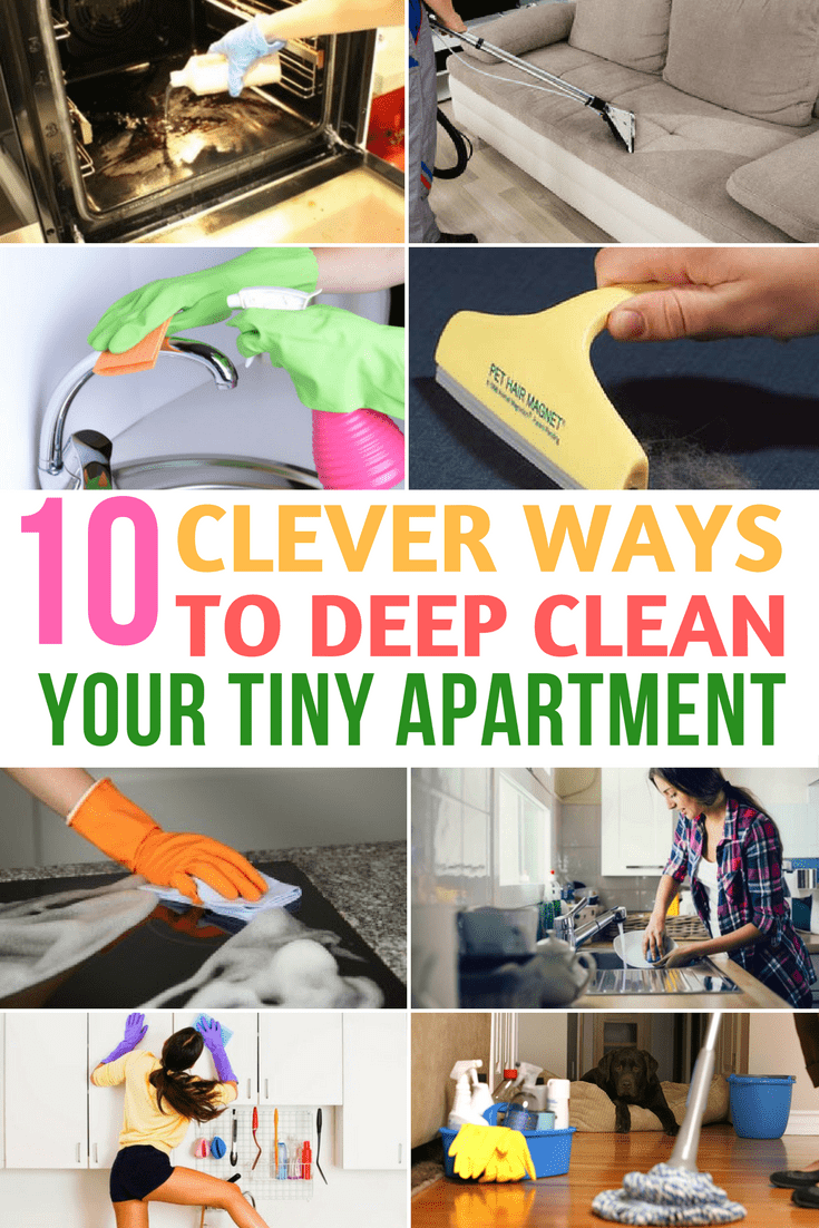 Deep Clean your tiny apartment
