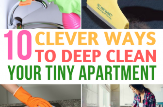 10 Clever Ways to Deep Clean Your Tiny Apartment