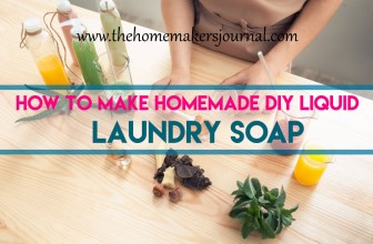 How to Make Homemade DIY Liquid Laundry Soap